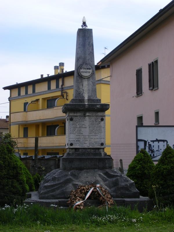 Monumento in ricordo dei Caduti della prima guerra mondiale