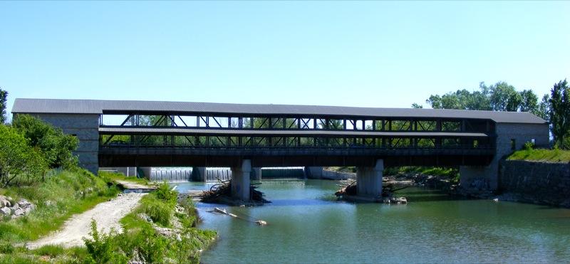 Restauro ponte di legno