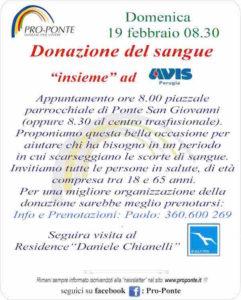 donazione sangue pro ponte